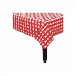 Gingham Check Red Plastic Table Skirt | Tableware Supplies