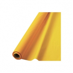 "Yellow Sunshine 40"" x 100' Plastic Table Roll 