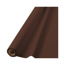 "Chocolate Brown Plastic 40"" x 100' Table Roll 