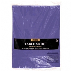 "New Purple 14' x 29"" Plastic Table Skirt 