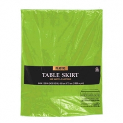 Kiwi Plastic Table Skirt | St. Patrick's Day Tableware