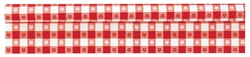 Gingham Check Red Plastic Table Roll | Tableware Supplies