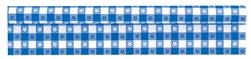 Gingham Check Blue Plastic Table Roll | Tableware Supplies