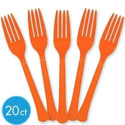Orange Peel Heavy Weight Forks, 20 ct | Party Supplies