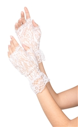 White Fingerless Lace Gloves | Party Supplies