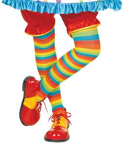 Rainbow Striped Tights | Party Supplies