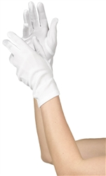 Teen White Short Gloves | Party Supplies