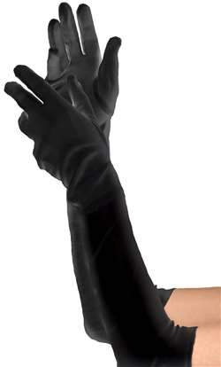 Women's Long Gloves - Black | Party Supplies