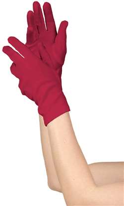 Women's Short Gloves - Red | Party Supplies