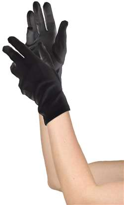 Women's Short Gloves - Black | Party Supplies