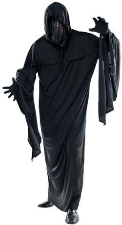 Adult Ghoul Robe - Black | Party Supplies