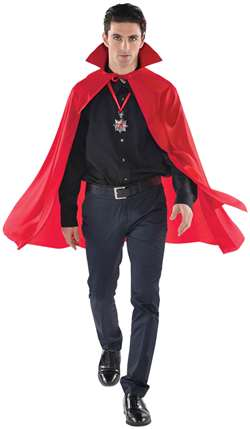 Adult Mid Length Cape - Red | Party Supplies
