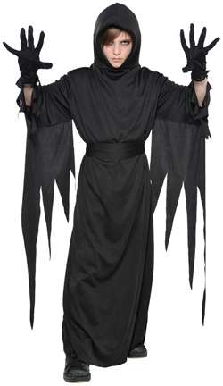 Child's Terror Robe - Black | Party Supplies