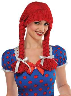Braided Rag Doll Wig | Party Supplies