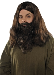 Brown Wig & Beard Set | Party Supplies