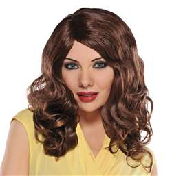 Envy Wig - Brown | Party Supplies