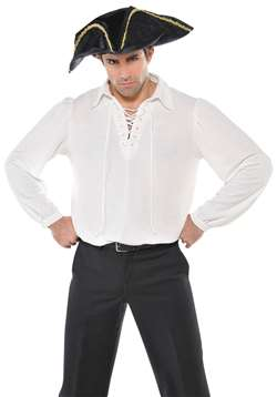 Men's Pirate Shirt - Ivory | Party Supplies