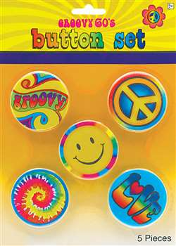 Hippie Buttons | Party Supplies