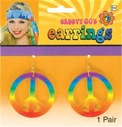 Tie Dye Peace Sign Earrings | Party Supplies