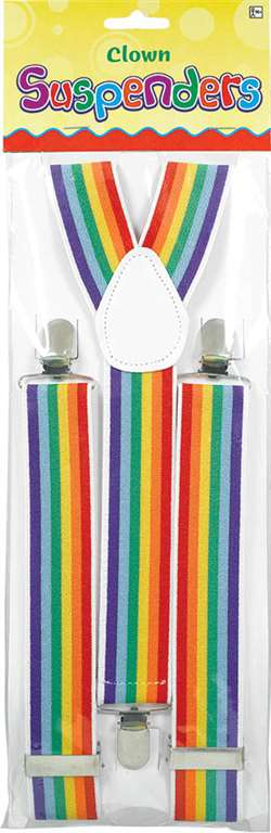 Clown Rainbow Suspenders | Party Supplies