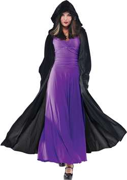 Adult Gothic Hooded Cape - Black | Party Supplies