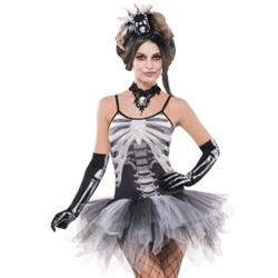 Black & Bone Petticoat Dress - Adult | Party Supplies