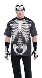 Black & Bone T-Shirt - Adult XL | Party Supplies