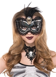 Skull Feather Mask | Party Supplies