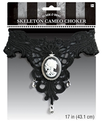 Skeleton Cameo Choker | Party Supplies
