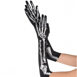 Skeleton Long Gloves | Party Supplies