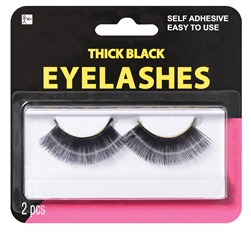 Black Thick Eyelashes | Party Supplies