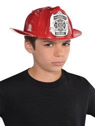 Red Fireman Hat - Child | Party Supplies