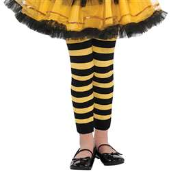 Bumblebee Fairy Footless Tights | Party Supplies