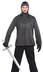 Chain Mail Tunic and Hood - Adult | Party Supplies