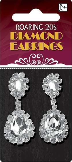 Diamond Earrings | Party Supplies