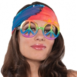 60's Hippie Peace Symbol Glasses | Party Supplies