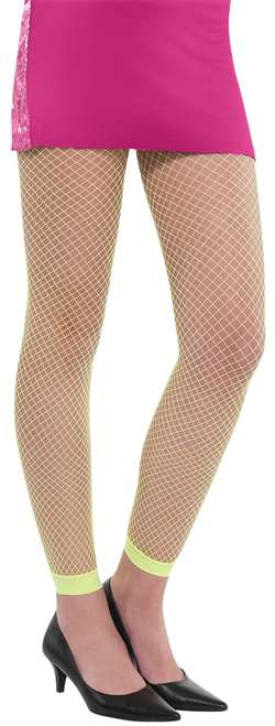 Fishnet Leggins - Neon Green | Party Supplies
