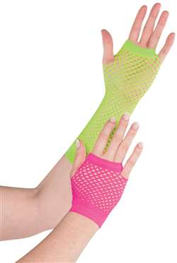 Fishnet Gloves - Neon | Party Supplies