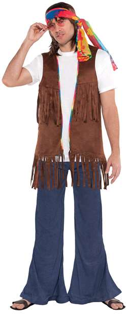 Men's Hippie Vest | Party Supplies