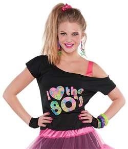 I Love the 80's T-Shirt | Party Supplies
