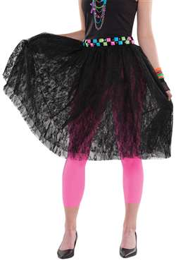 Lace Skirt - Black | Party Supplies