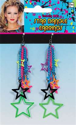 Star Dangle Earrings - Multi | Party Supplies