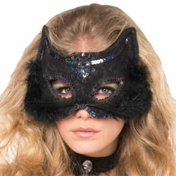 Cat Marabou Fancy Mask | Party Supplies