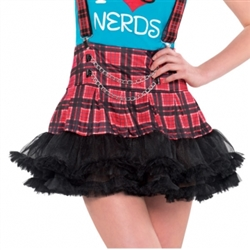 Geek Chic Plaid Tutu - Junior | Party Supplies