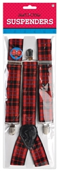 Geek Chic Plaid Suspenders | Party Supplies