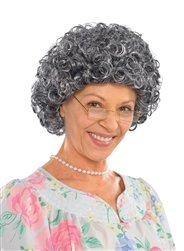 Granny Curly Wig | Party Supplies