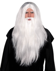 Sorcerer Wig & Beard Set | Party Supplies