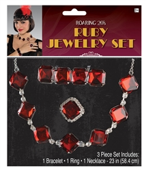 20's Ruby Jewelry Set | Party Supplies