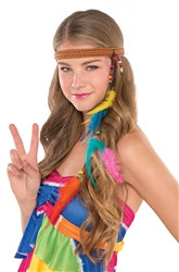 60's Feather Headband | Party Supplies