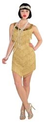 Champagne Flapper Dress | Party Supplies
